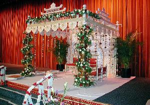 Indian Mandap, Roses, Greens, Palms
